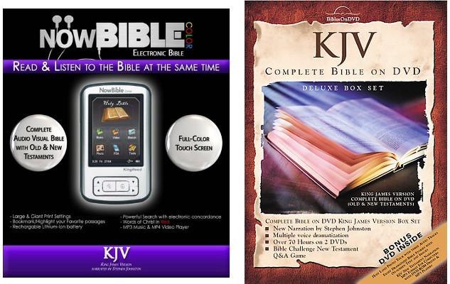 christian kjv audio bibles dvd electronic