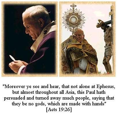 catholic communion wafer idol