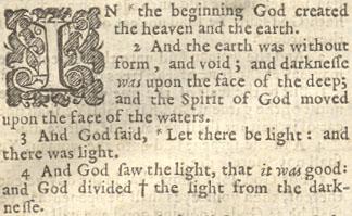 1637 kjv king james version bible vintage historic Genesis introduction