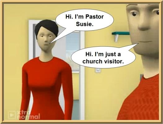 unscriptural unbiblical female woman pastor church leader conversation