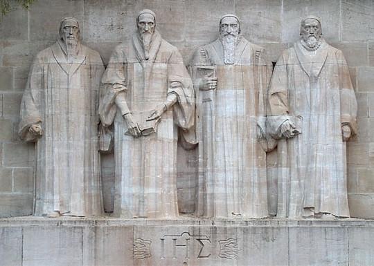 protestant reformation reformers statue geneva switzerland