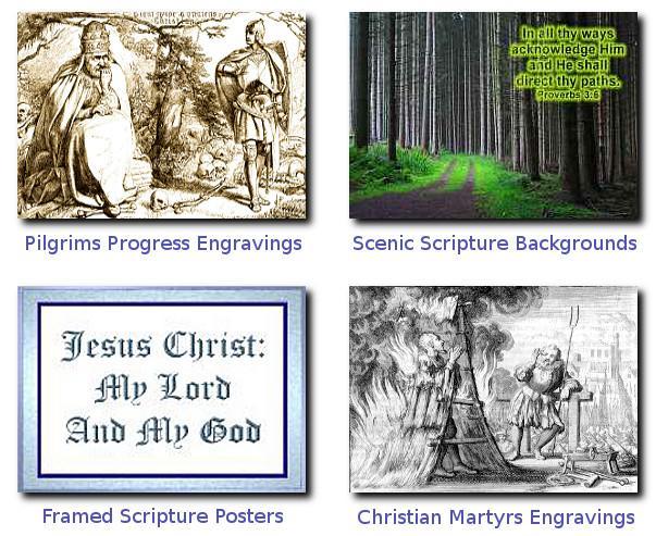 christian graphics framed scenic scripture backgrounds engravings