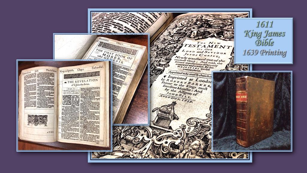 Vintage King James Bible Desktop Wallpaper Graphics - Coming