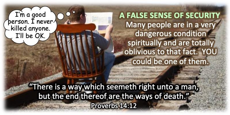 false sense of spiritual security